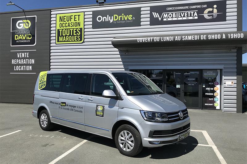 Véhicule minibus Volkswagen Caravelle 9 places