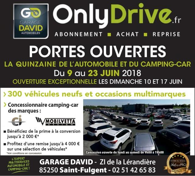 Portes ouvertes quinzaine de l 39 automobile et du camping car du 9 au 23 juin 2018 au garage david - Porte ouverte camping car ...
