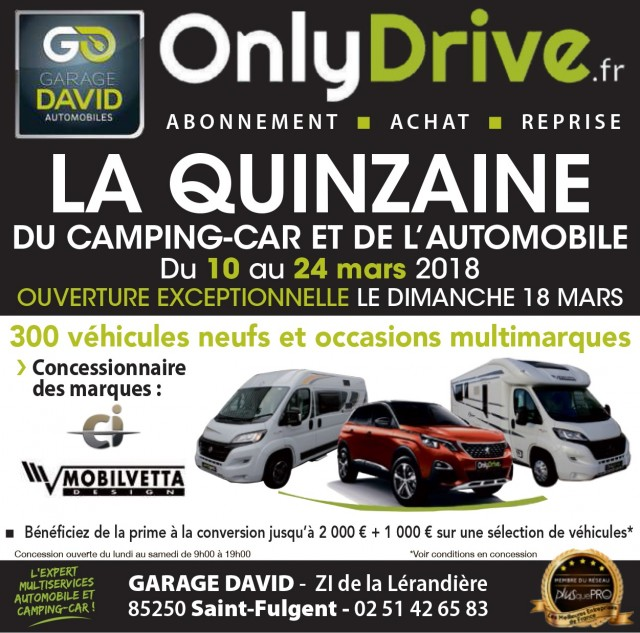 le garage david participe la quinzaine du camping car et de l 39 automobile qui se d roule du 10. Black Bedroom Furniture Sets. Home Design Ideas