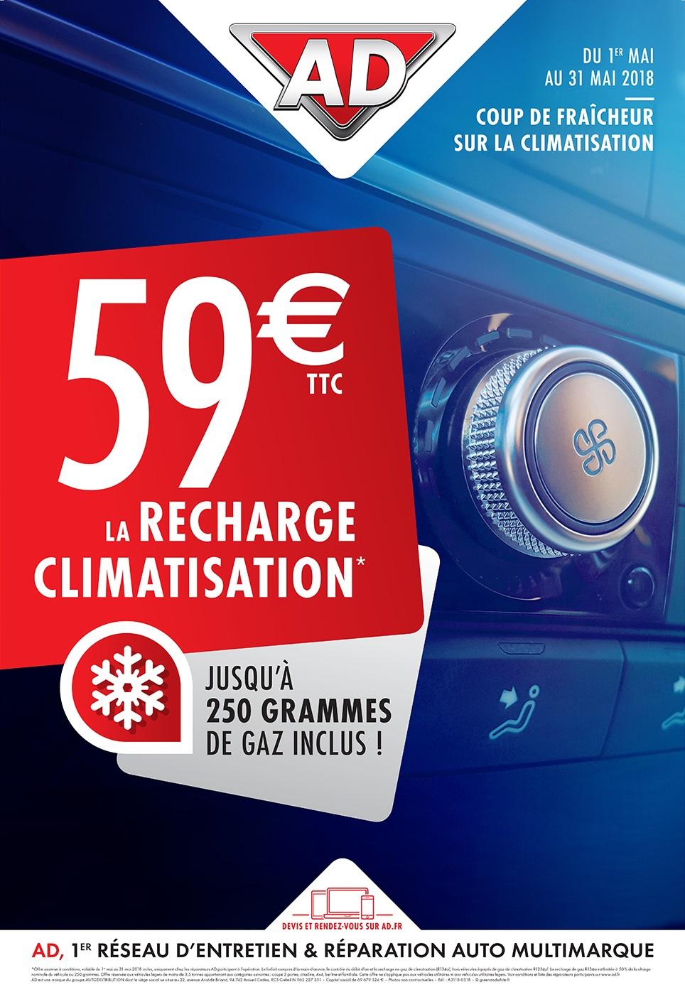 Coup de fraîcheur sur la climatisation du 1er au 31 mai 2018 au Garage David Onlydrive à Saint Fulgent