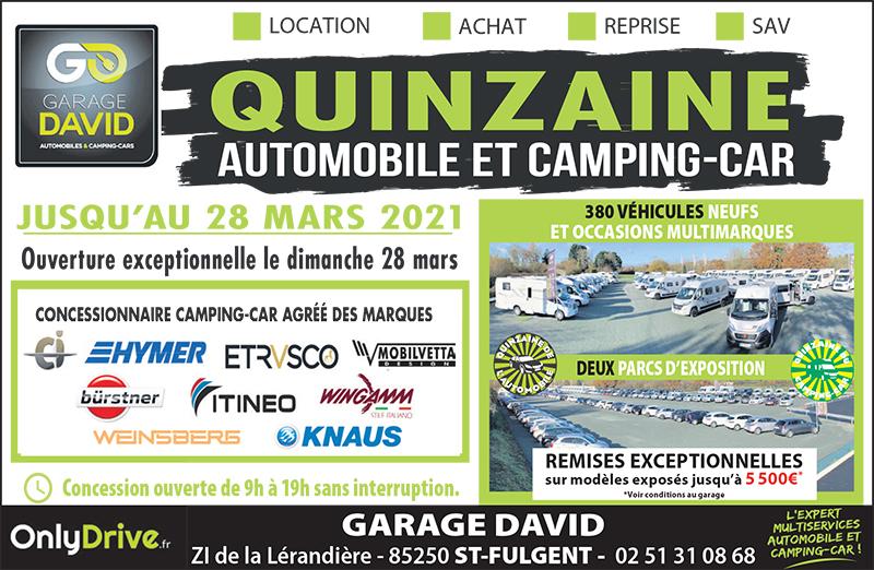Profitez de remises jusqu'à 5 500 euros pendant la quinzaine de l'automobile et du camping-car du 13 au 28 mars 2021 avec des ouvertures exceptionnelles les dimanches 14, 21 et 28 mars