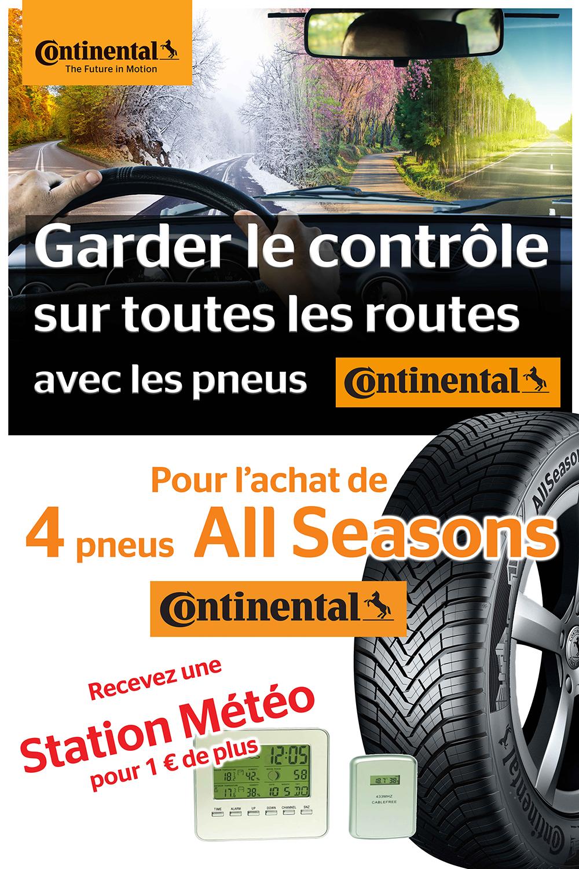 Offre pneus Contiental All Seasons au Garage David à Saint Fulgent en Vendée