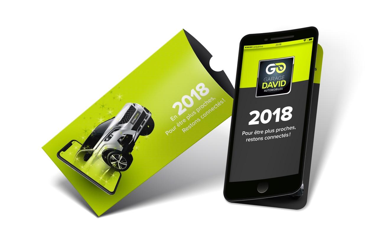 L'équipe garage David vous souhaite une excellente année 2018 avec onlydrive.fr